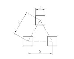 Qv t-S - Квадратные отверстия, расположенные в шахматном порядке.