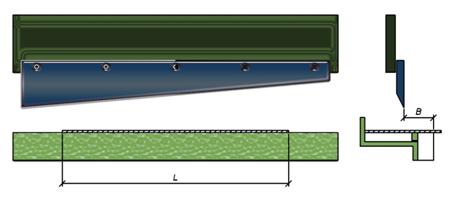 Схема действия гильотинных ножниц