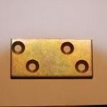 Пластина цинк 52х25х2,0мм цинк с 4-мя зенкованными отверстиями